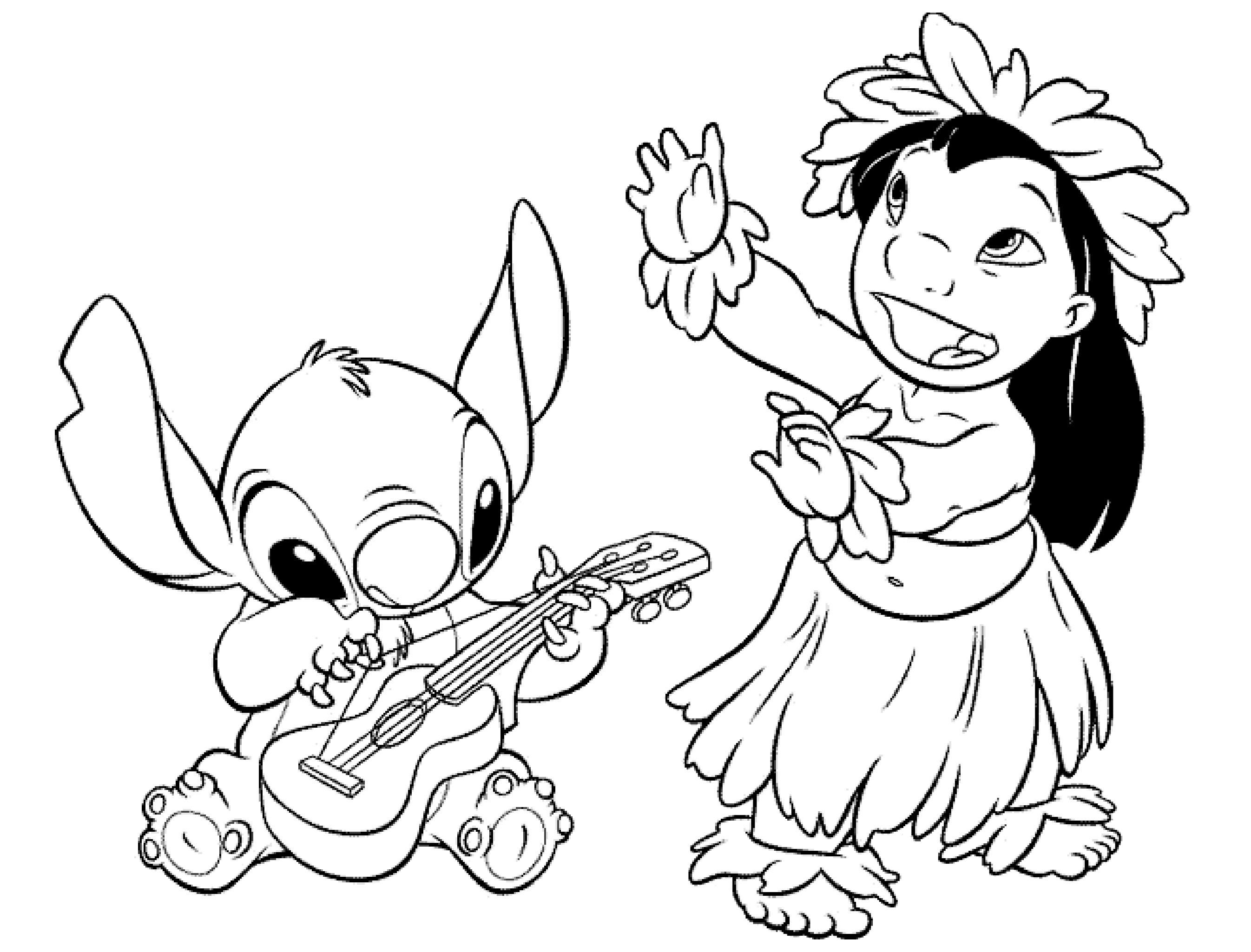 Coloriage Lilo et stich pour enfants   Coloriage Lilo et Stich ...