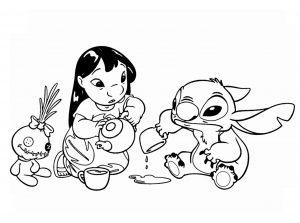 Coloriage Lilo et stich à imprimer pour enfants