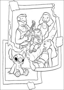Coloriage Lilo et stich à colorier pour enfants
