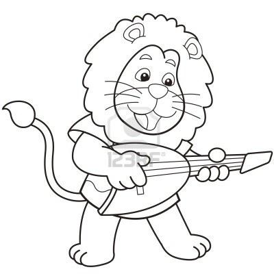 Un lion jouant du banjo :)