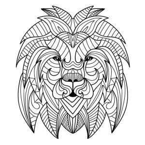 Tete de lion mandala 2