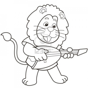 Coloriage lion 1