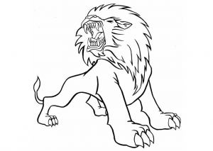 Coloriage lion 3