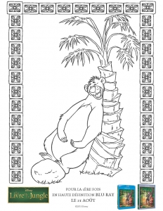 Coloriage livre de la jungle 1