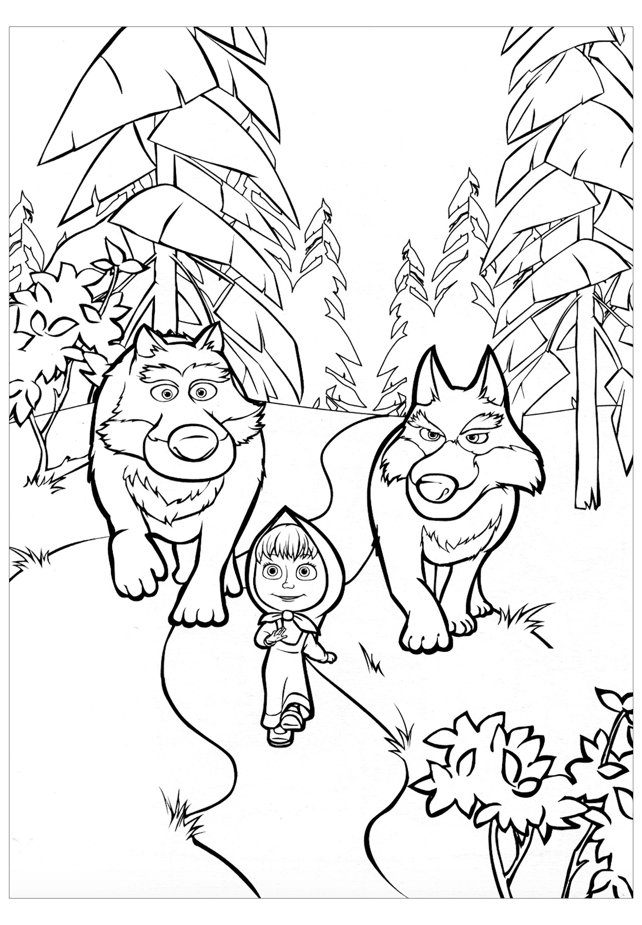 Ces grands loups protègent cette petite fille !