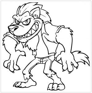Loup musclé