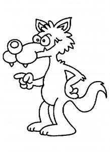 Coloriage Facile Loup.Coloriage De Loups Coloriages Pour Enfants
