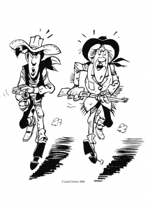 Coloriage lucky luke 4