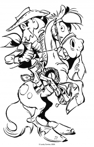 coloriage-lucky-luke-8 free to print