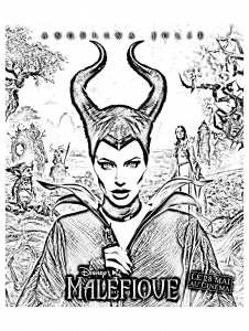 coloriage-malefique-disney-affiche-2 free to print