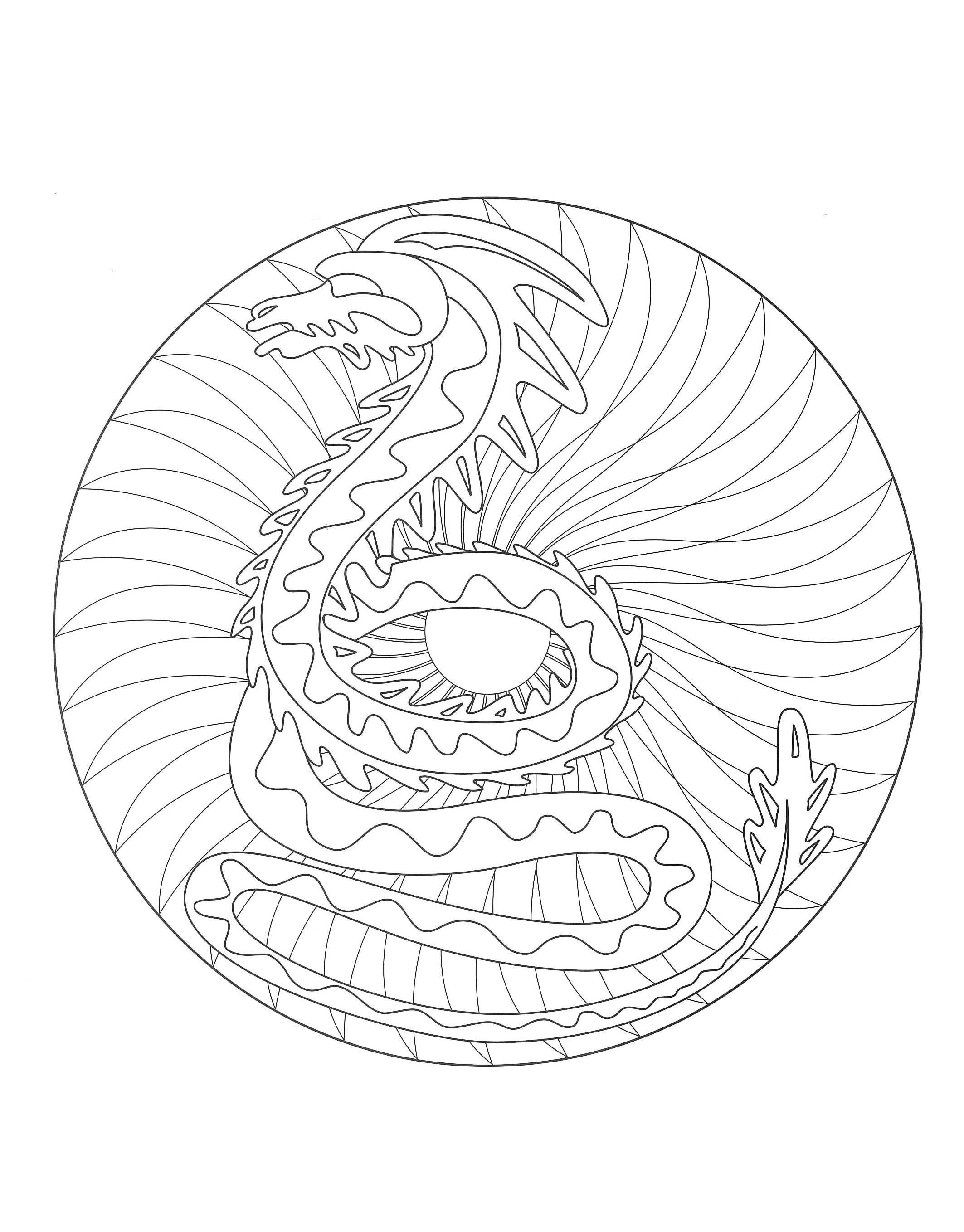 a imprimer mandala dragon 2 coloriage mandalas. Black Bedroom Furniture Sets. Home Design Ideas