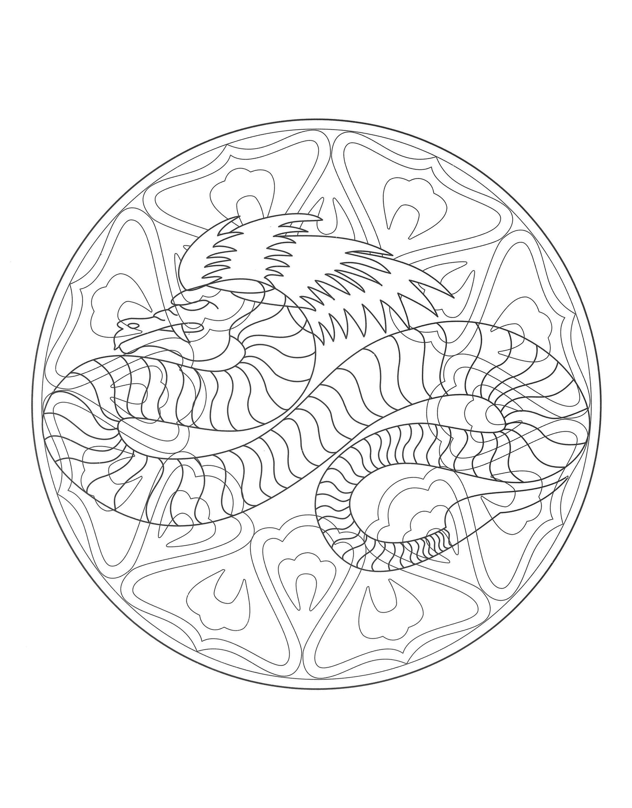 a imprimer mandala dragon 4 coloriage mandalas coloriages pour enfants page 6. Black Bedroom Furniture Sets. Home Design Ideas