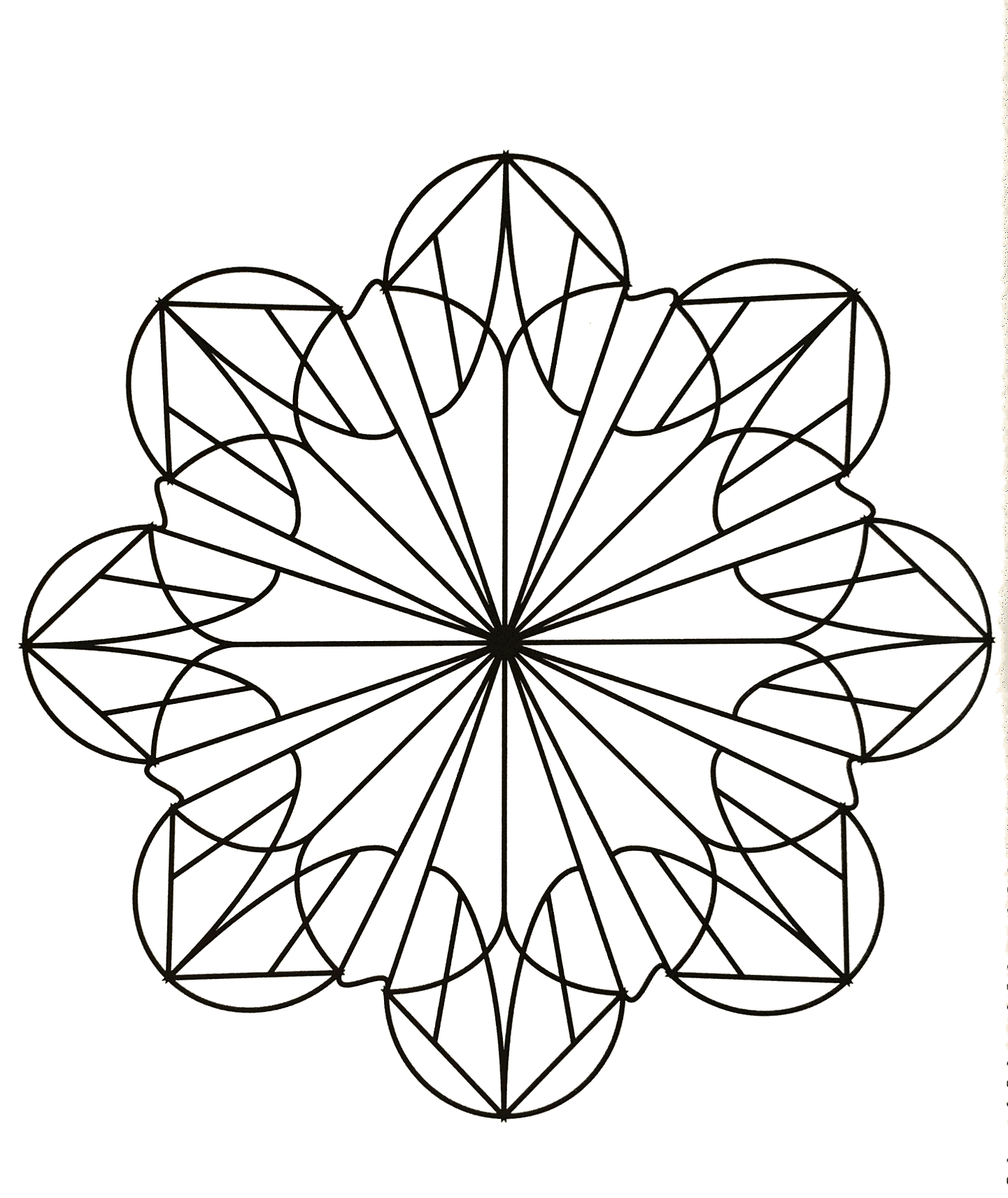 facile mandala fleur coloriage mandalas coloriages pour enfants. Black Bedroom Furniture Sets. Home Design Ideas
