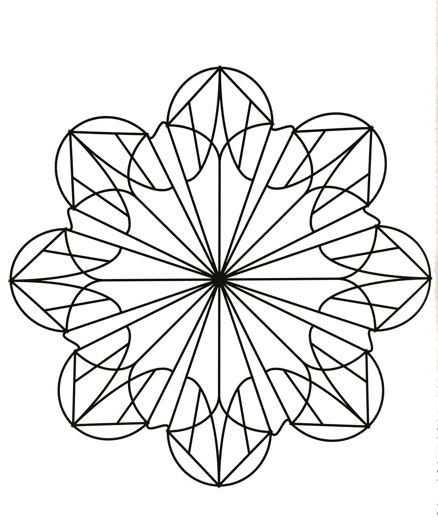 Facile mandala fleur coloriage mandalas coloriages - Dessin fleur facile ...
