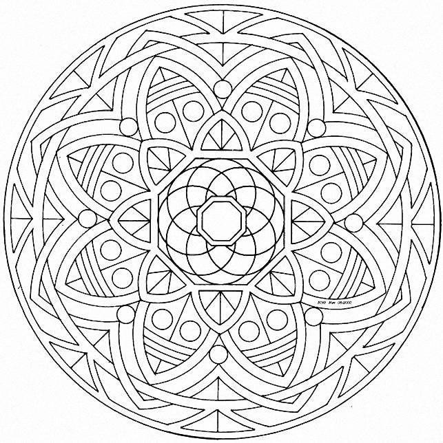 Mandala a imprimer 12 coloriage mandalas coloriages - Coloriage mandala enfants ...