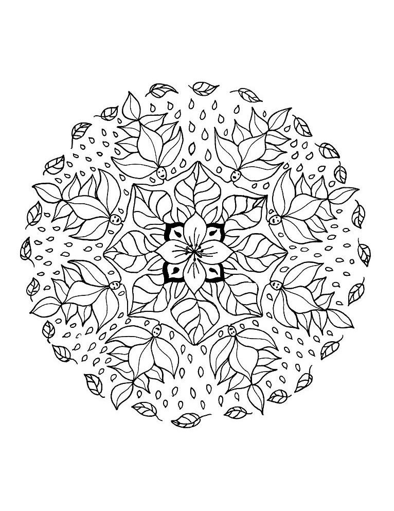 Mandala a imprimer 14 coloriage mandalas coloriages - Imprimer coloriage mandala ...