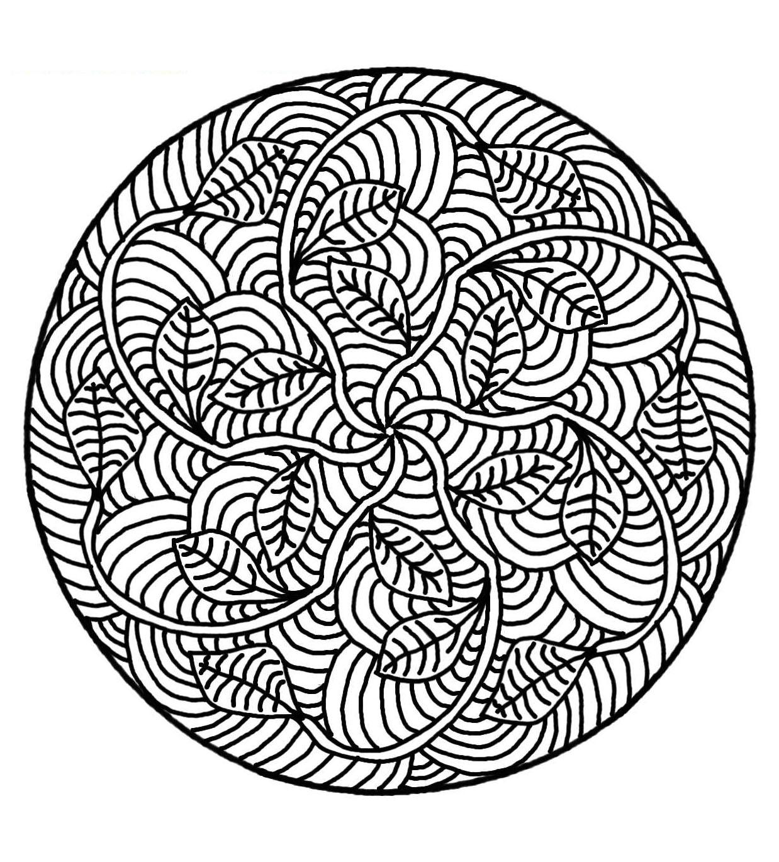 Mandala zum ausmalen coloriage mandalas coloriages - Coloriage a imprimer mandala gratuit ...