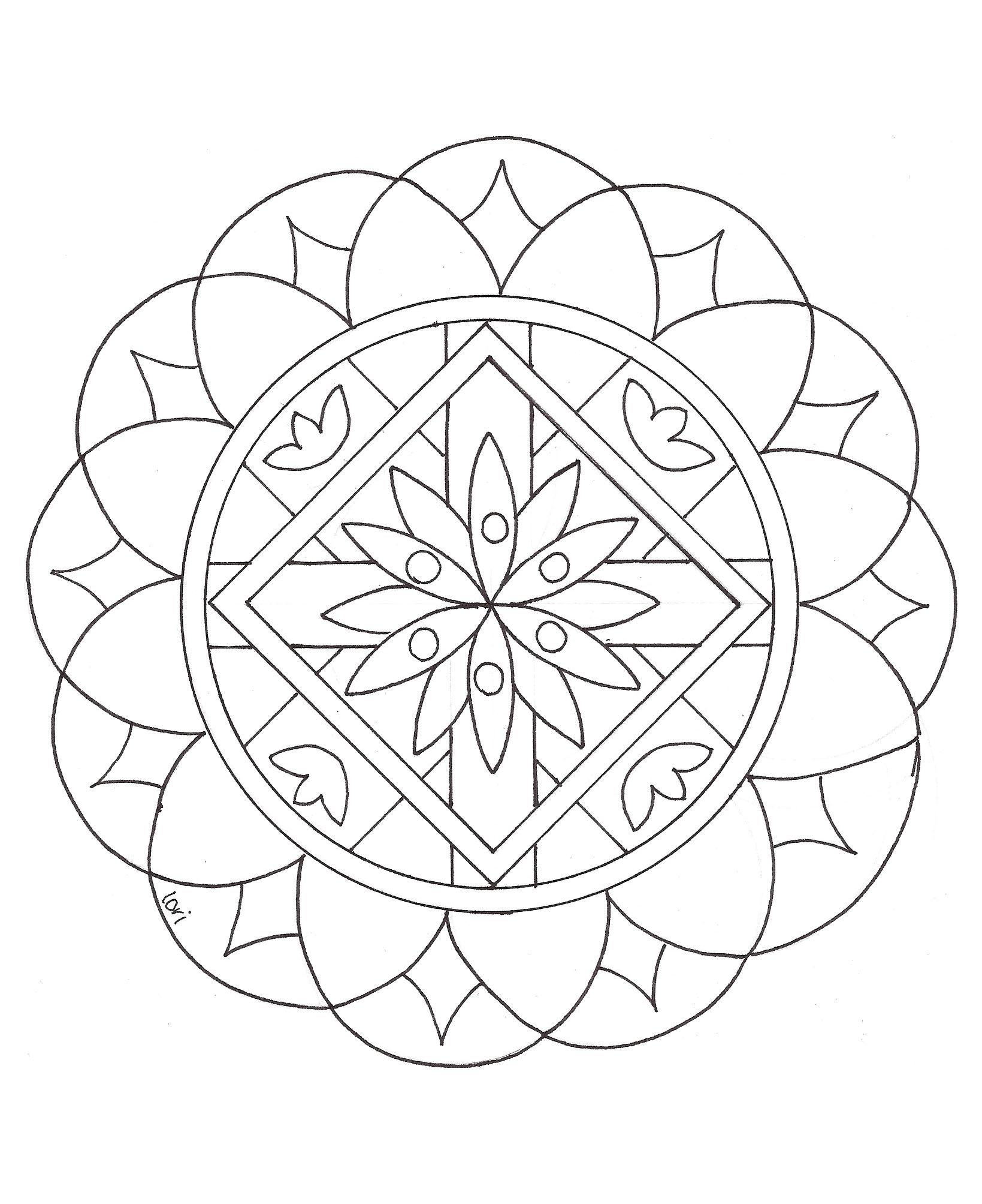 mandala a imprimer 2 coloriage mandalas coloriages pour enfants page 2. Black Bedroom Furniture Sets. Home Design Ideas