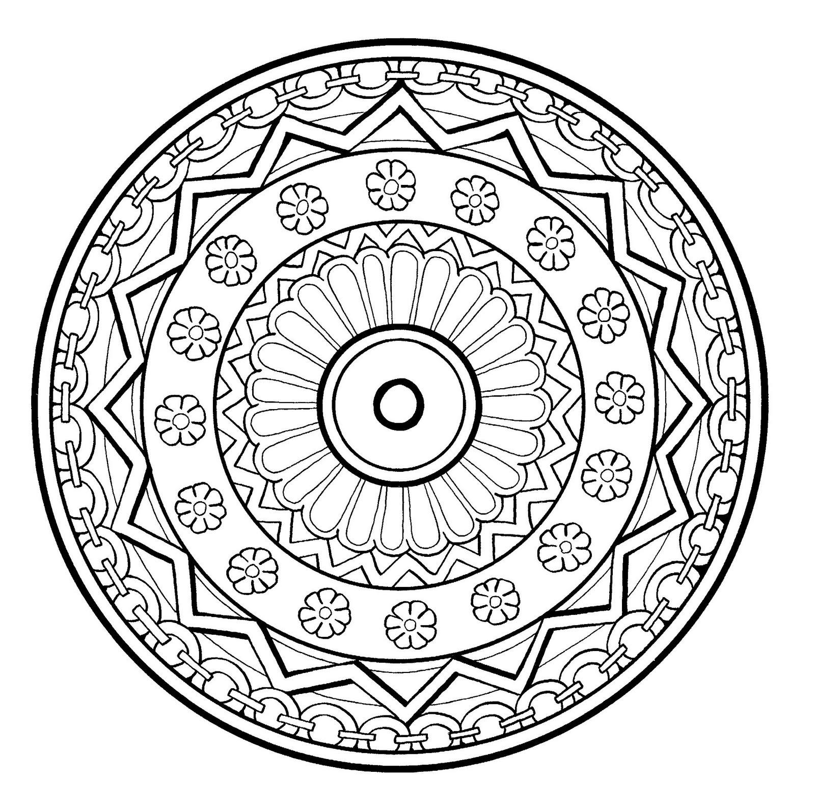 Mandala a imprimer 3 - Coloriage Mandalas - Coloriages ...