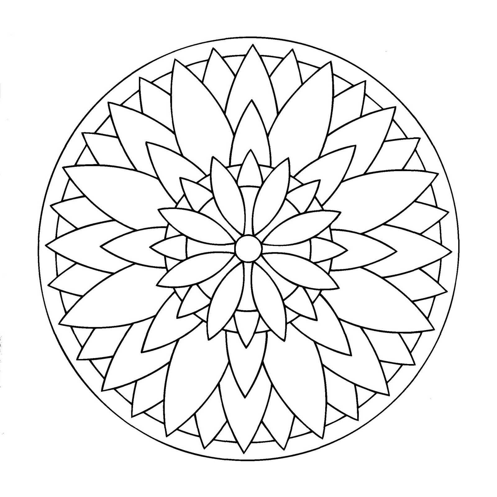 mandala a imprimer 4 coloriage mandalas coloriages pour enfants. Black Bedroom Furniture Sets. Home Design Ideas