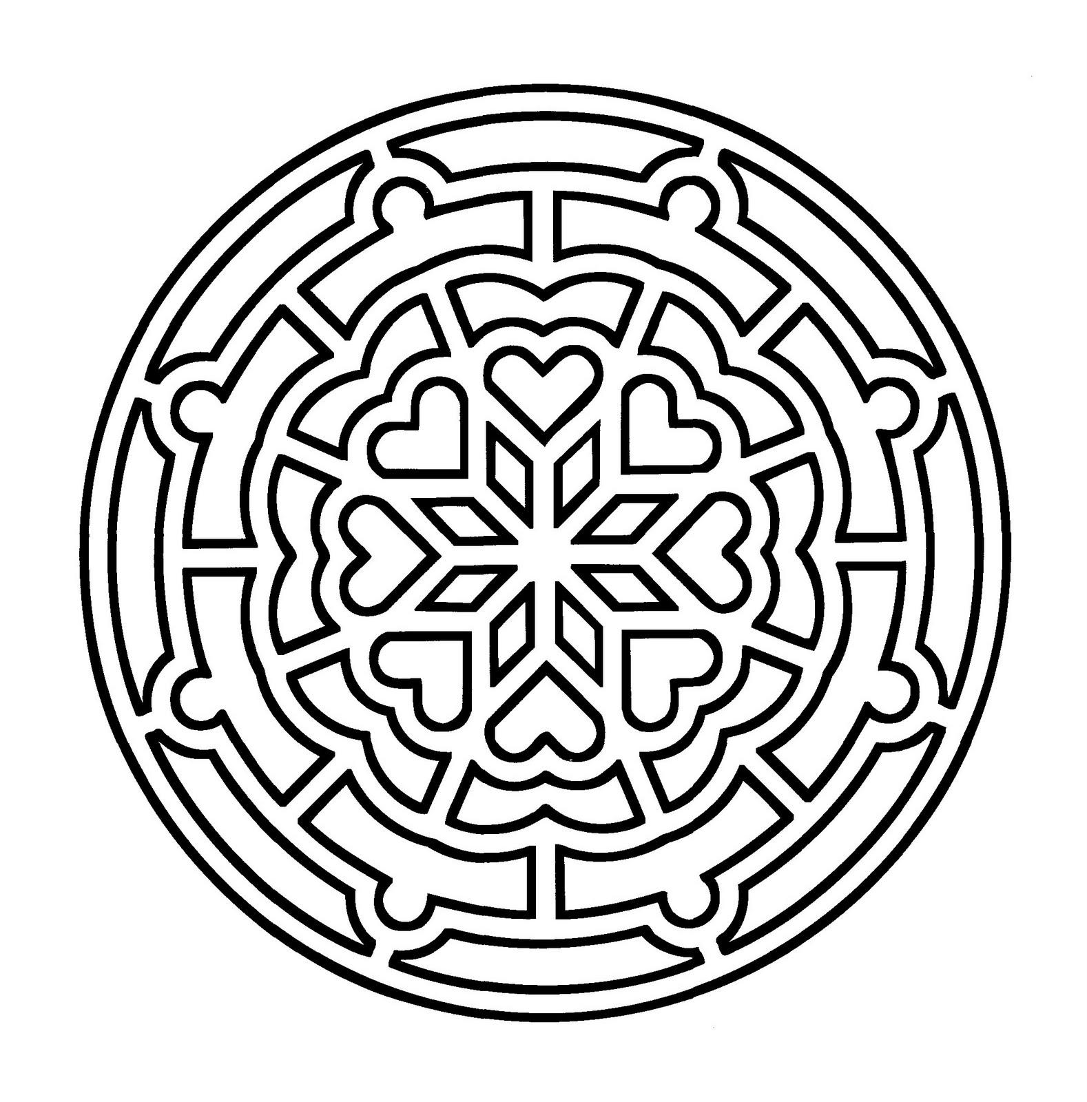 Mandala a imprimer 5 - Coloriage Mandalas - Coloriages ...