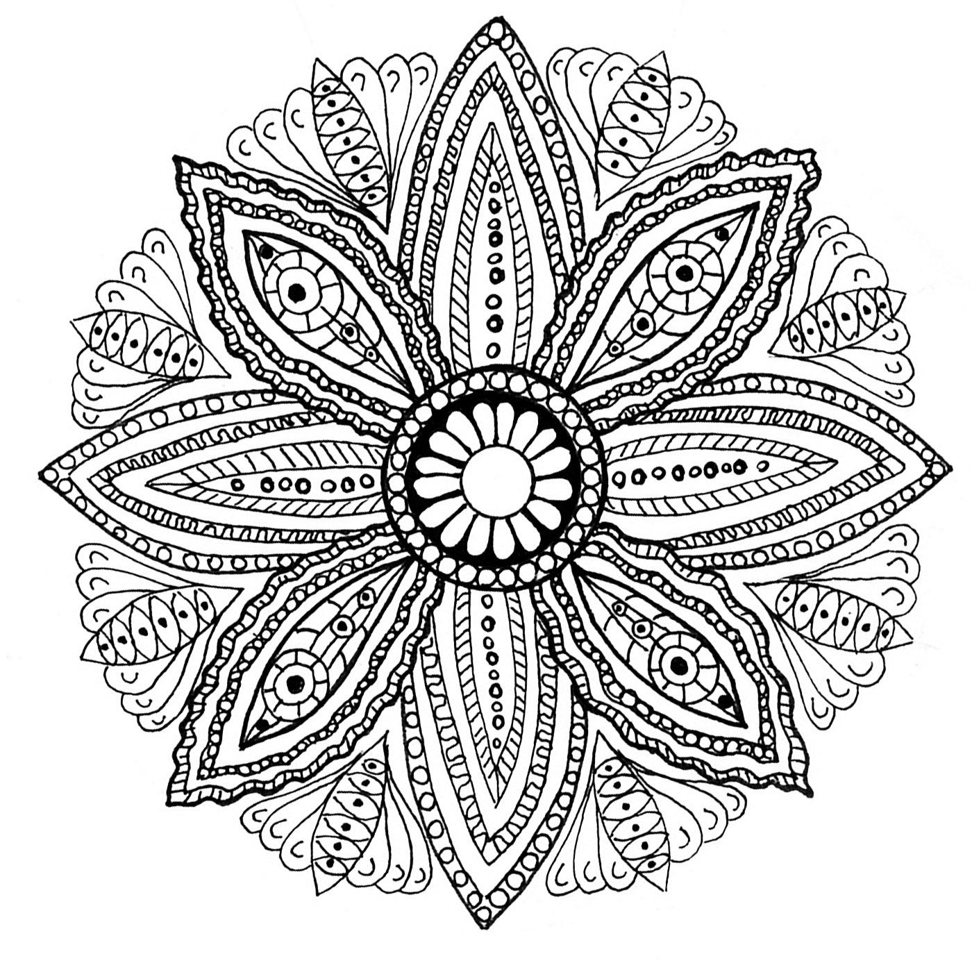 Mandala feuilles et vegetation coloriage mandalas coloriages pour enfants page 6 - Dessin de mandala a imprimer ...