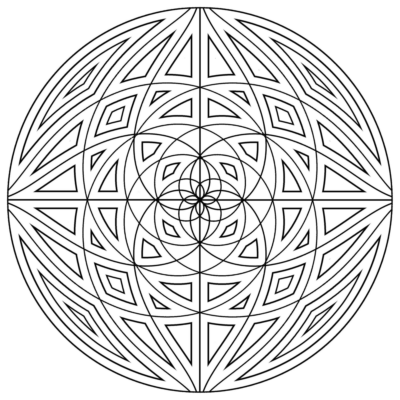 Mandala lignes concentriques