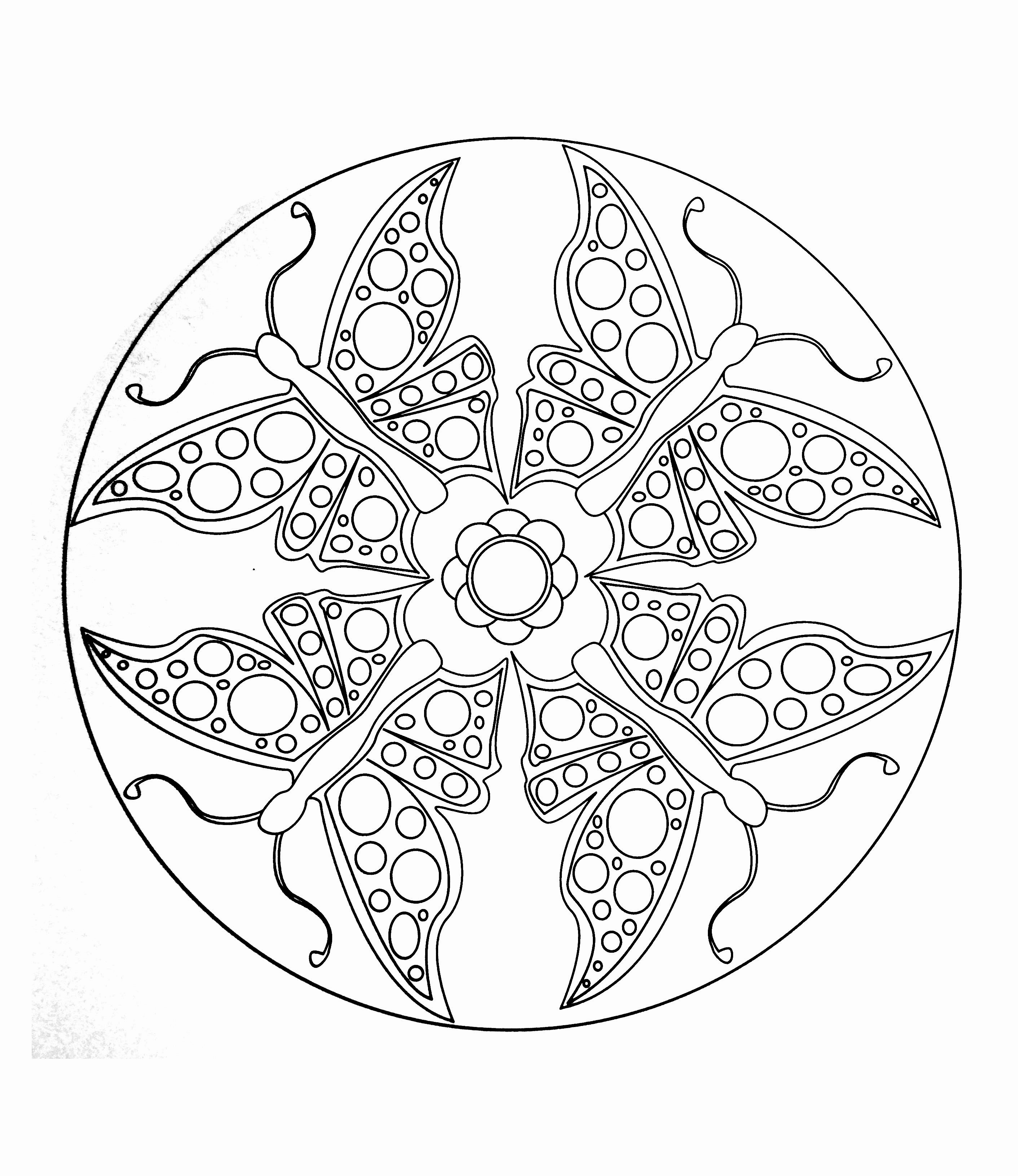 15 Coloriage Mandala Facile Gratuit | Imprimer et Obtenir une Coloriage Gratuit Ici