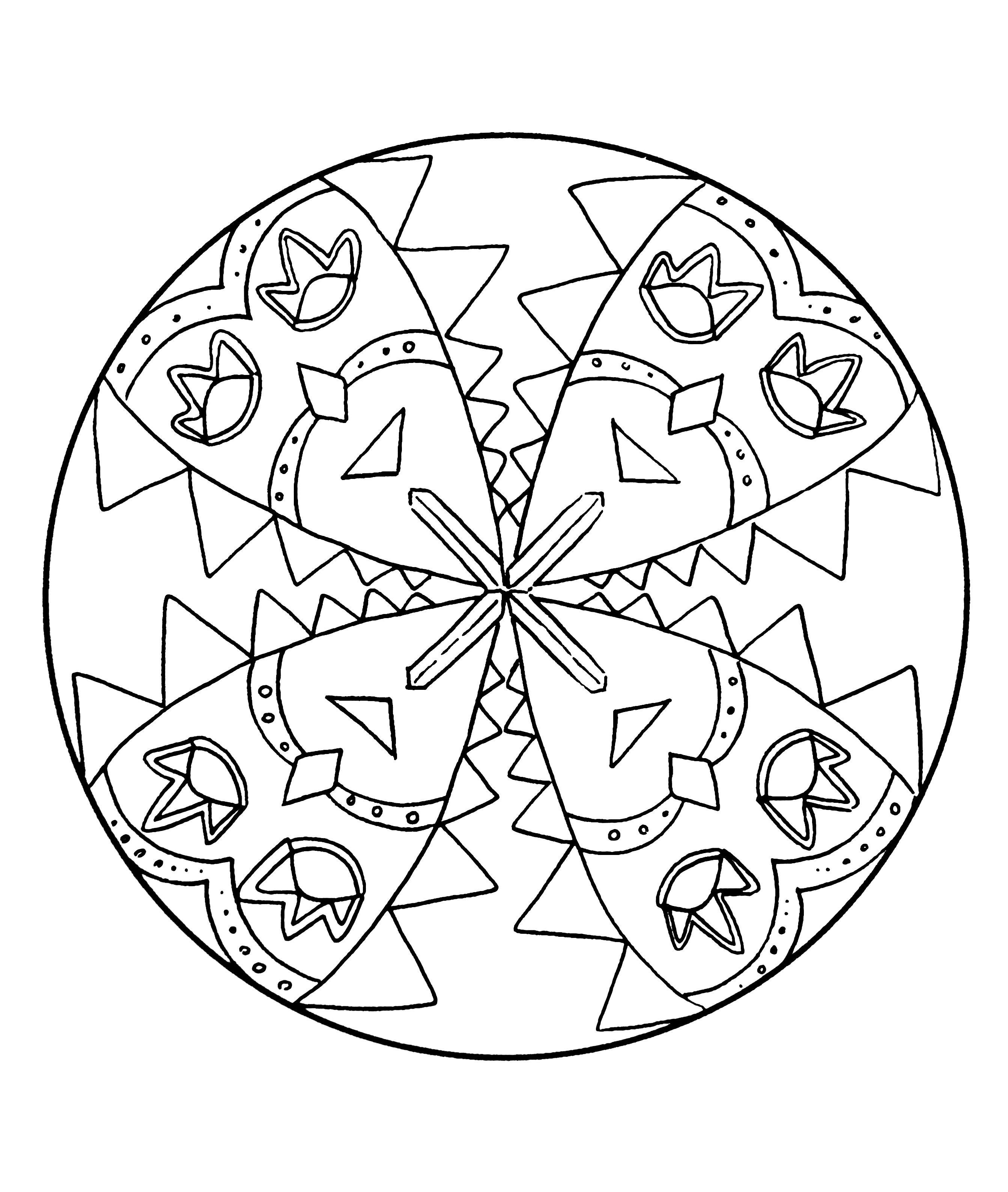 Dsc 5074 coloriage mandalas coloriages pour enfants - Coloriage mandala enfants ...