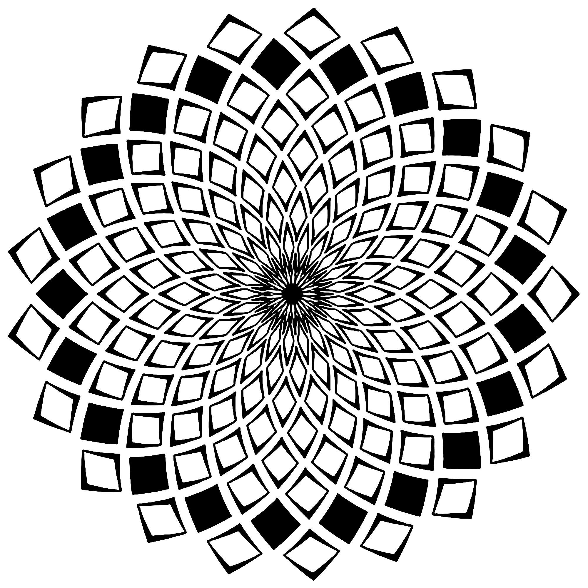 Mandala carres mosaiques