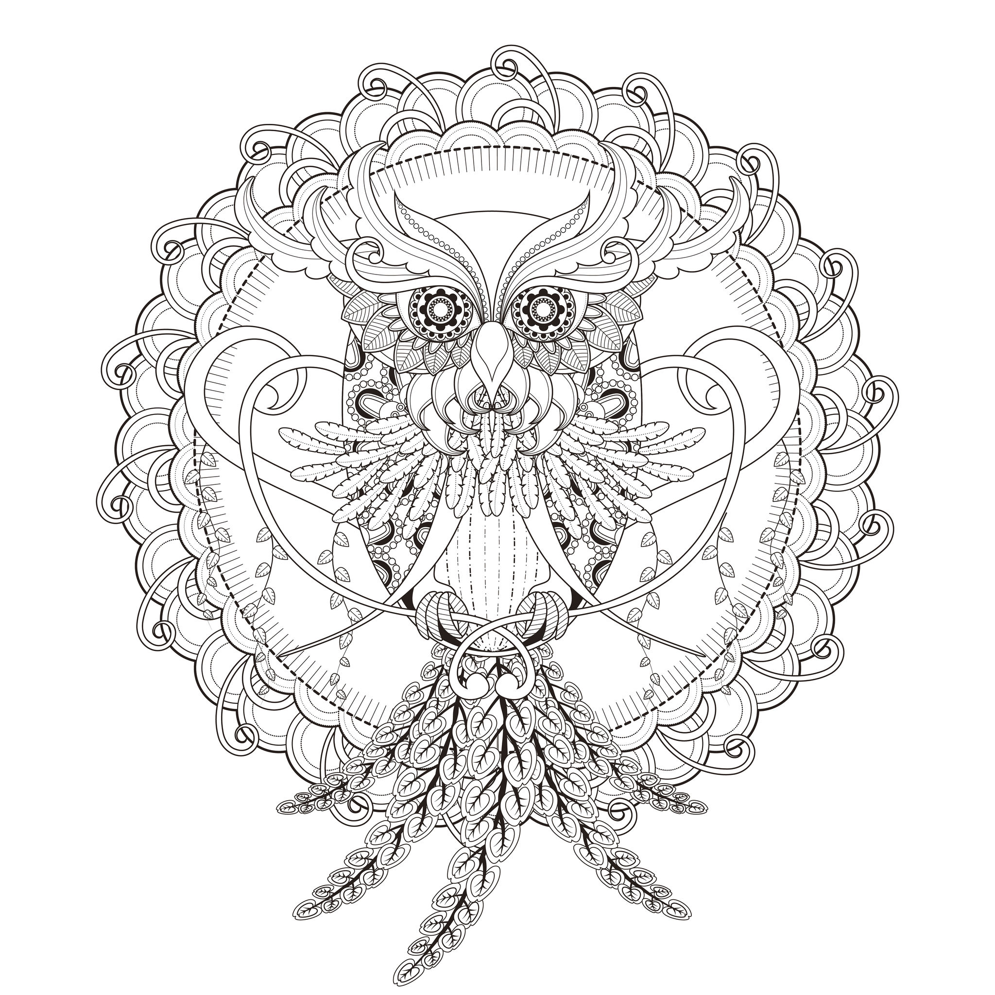 Mandala chouette