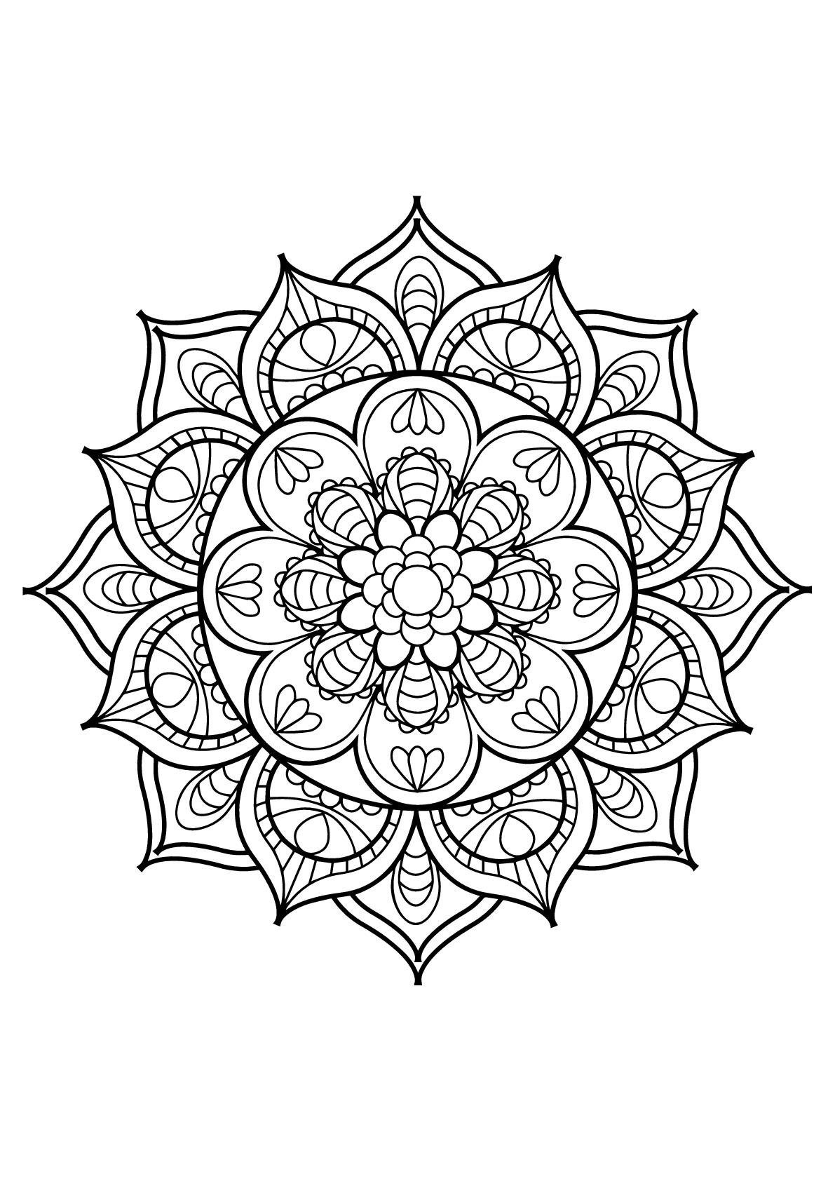 Mandala complexe livre gratuit 11 coloriage mandalas - Coloriage mandala enfants ...