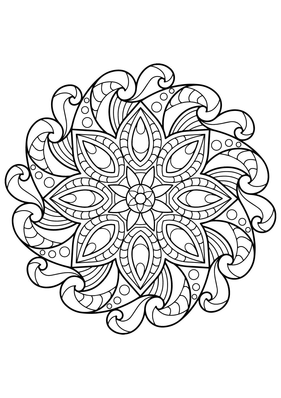Mandala complexe livre gratuit 2 coloriage mandalas coloriages pour enfants - Mandalas a colorier gratuit ...