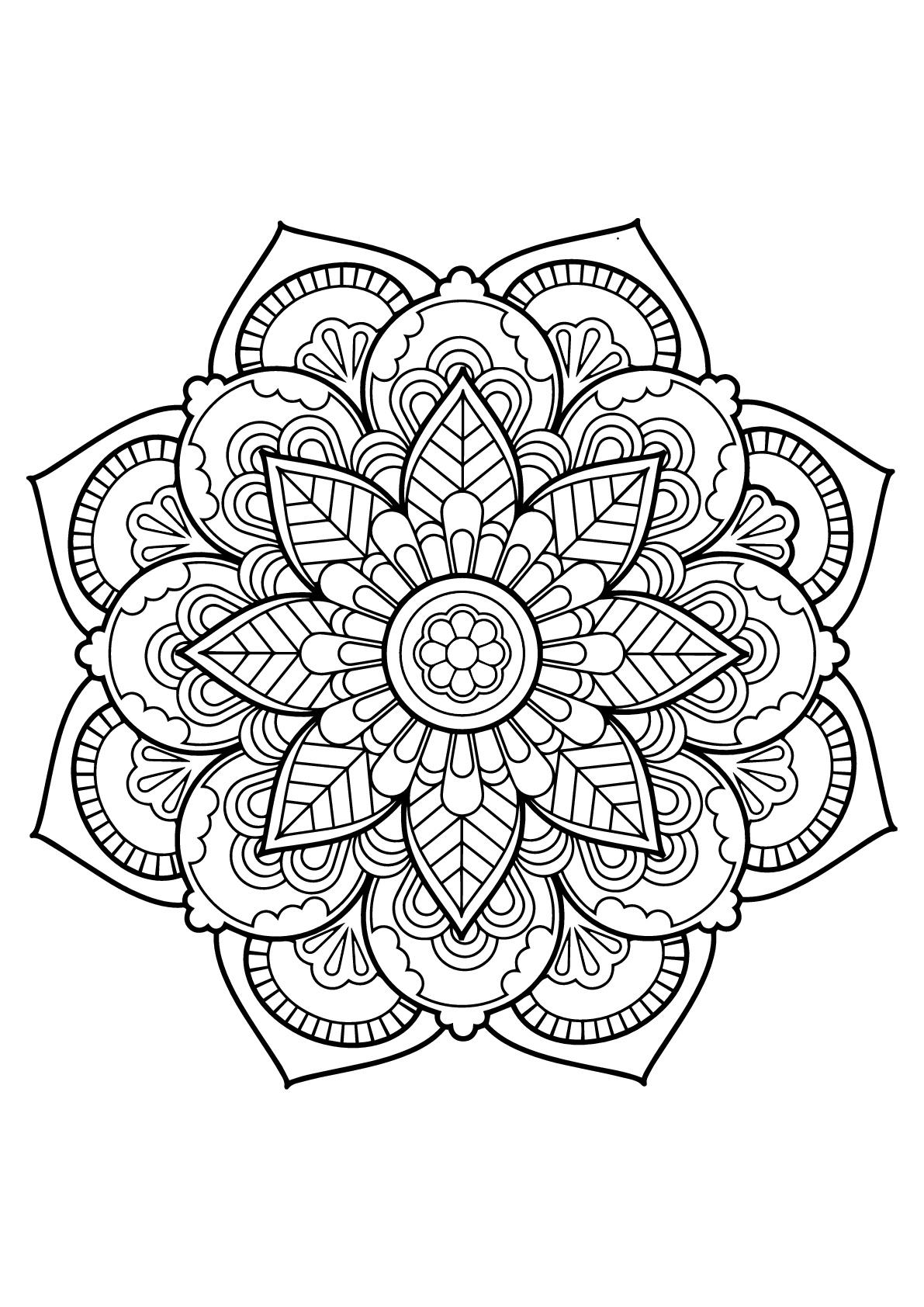 Mandala complexe livre gratuit 22 coloriage mandalas - Coloriage mandala enfants ...