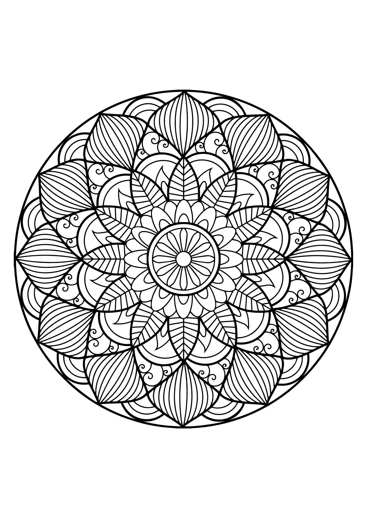 Mandala complexe livre gratuit 30 - Coloriage Mandalas ...