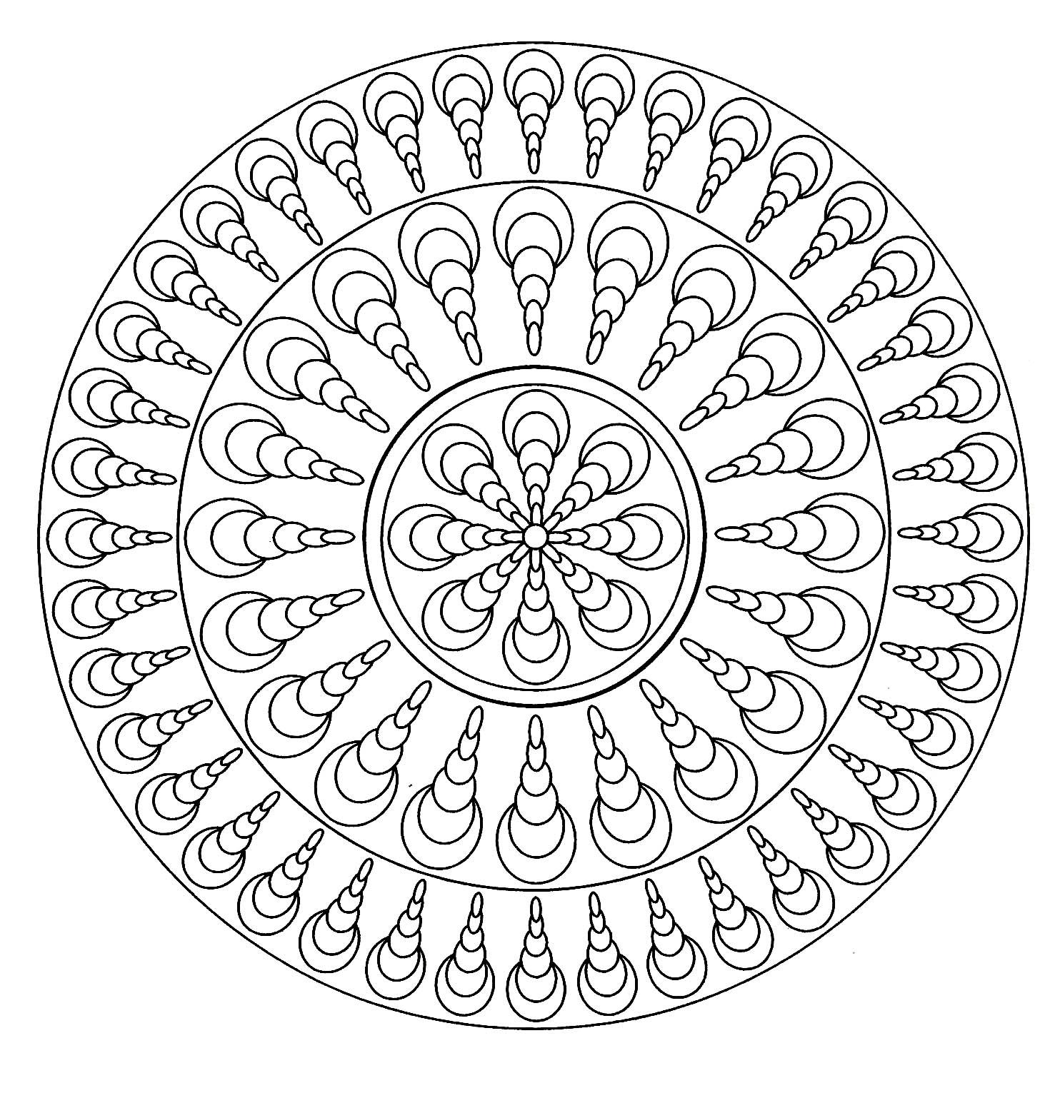 Mandala facile geometrique 4