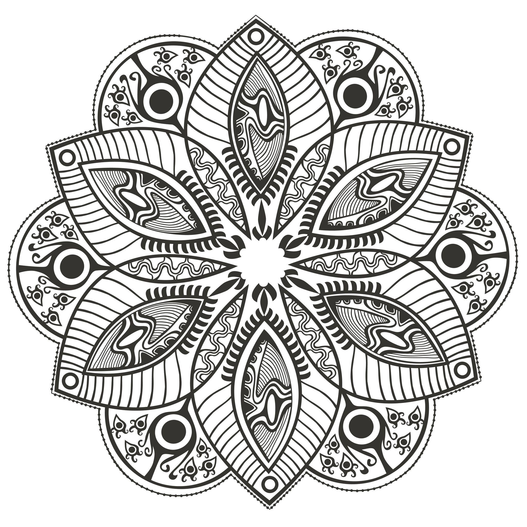 Mandala fleur originale