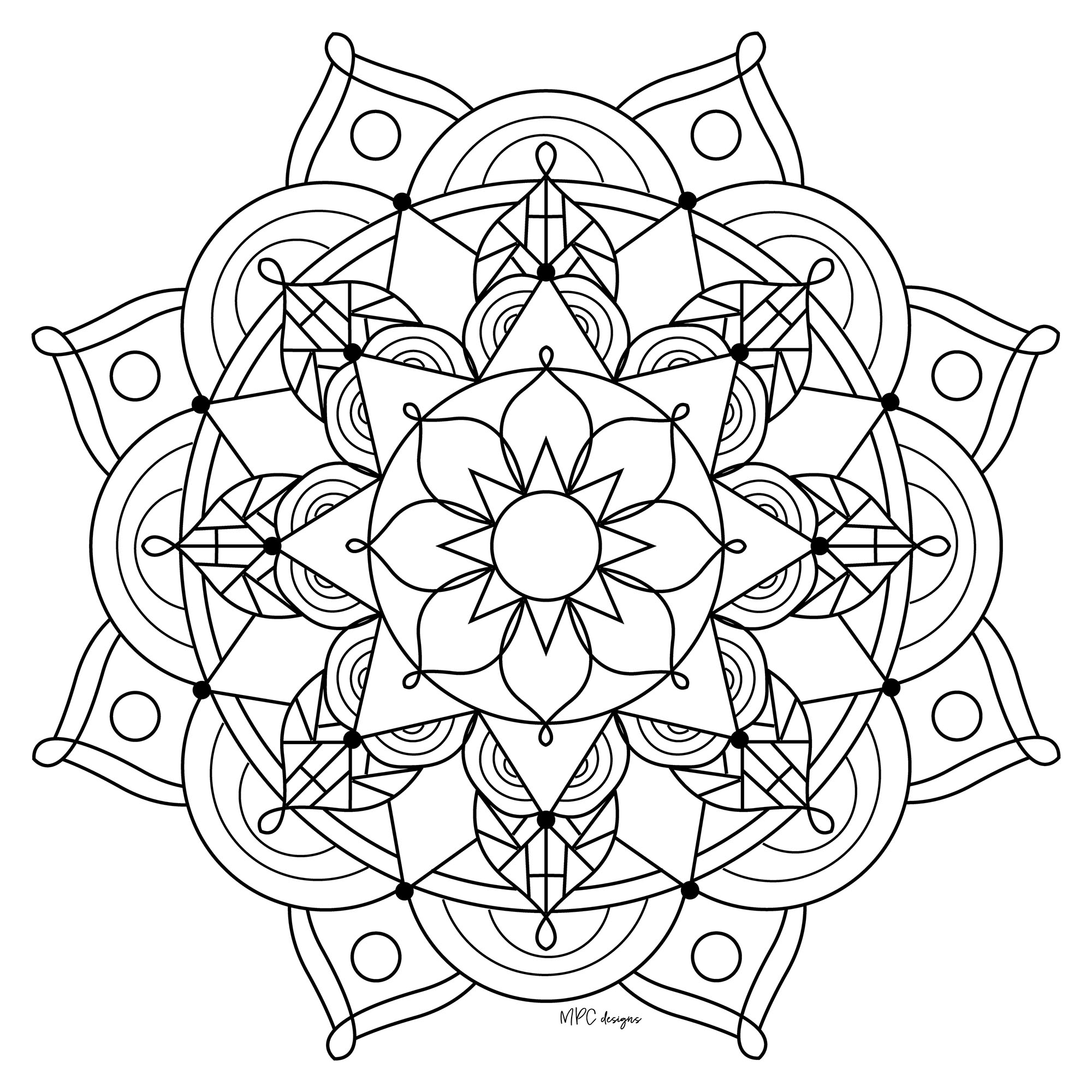 Mandala gratuit mpc design 9 coloriage mandalas - Coloriage mandala enfants ...