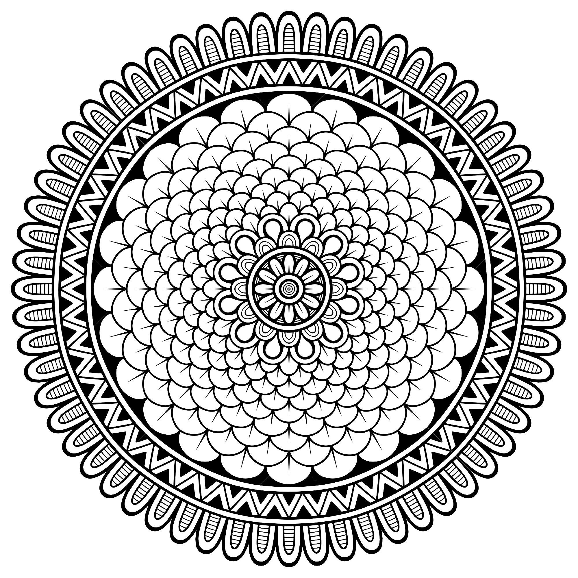 Mandala avec plein de petits pétales