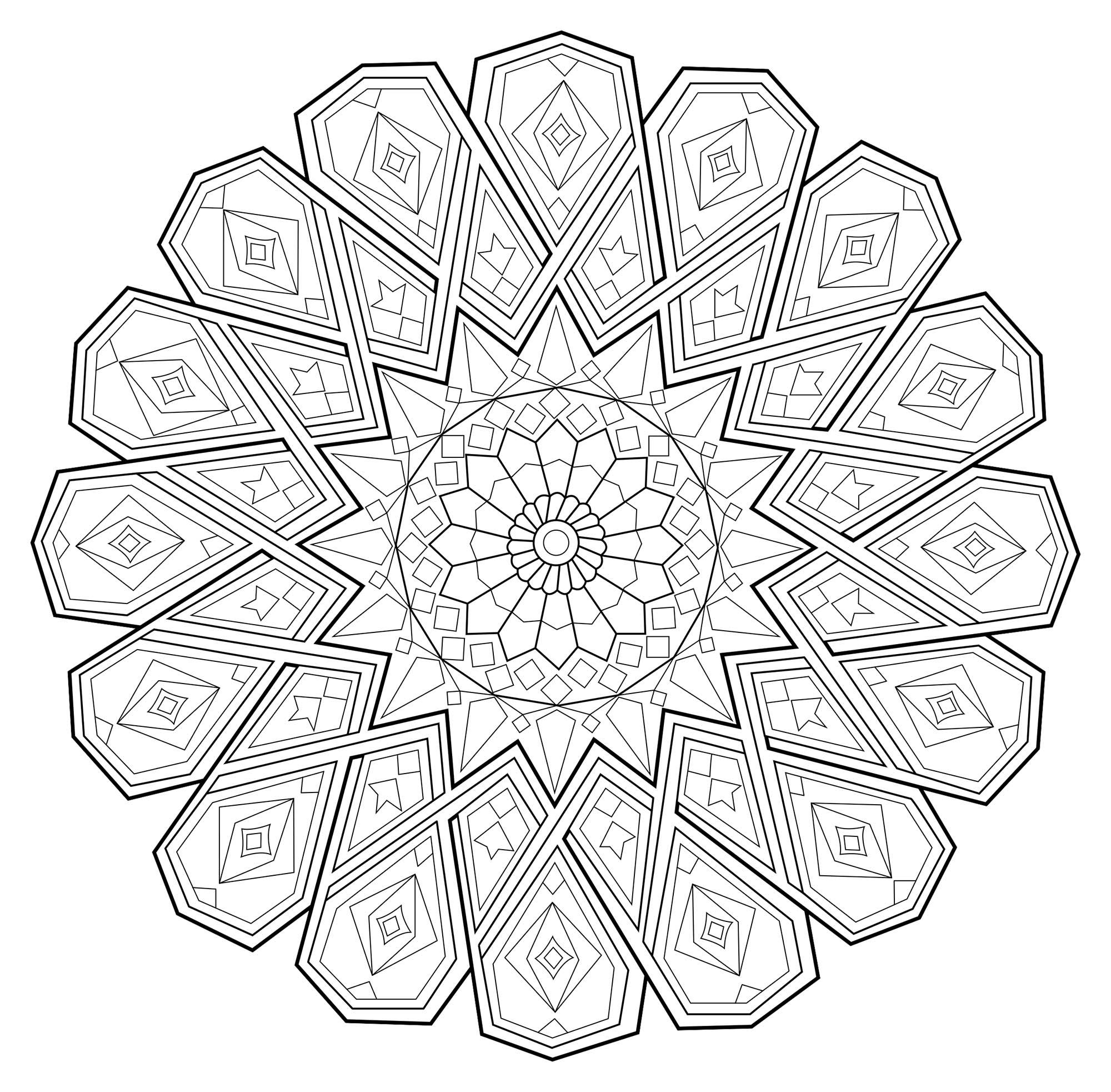 Élégant Dessin A Colorier A Imprimer Mandala