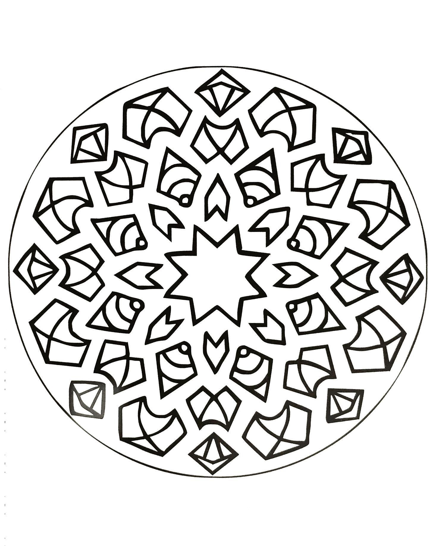 Mandalas a imprimer 22
