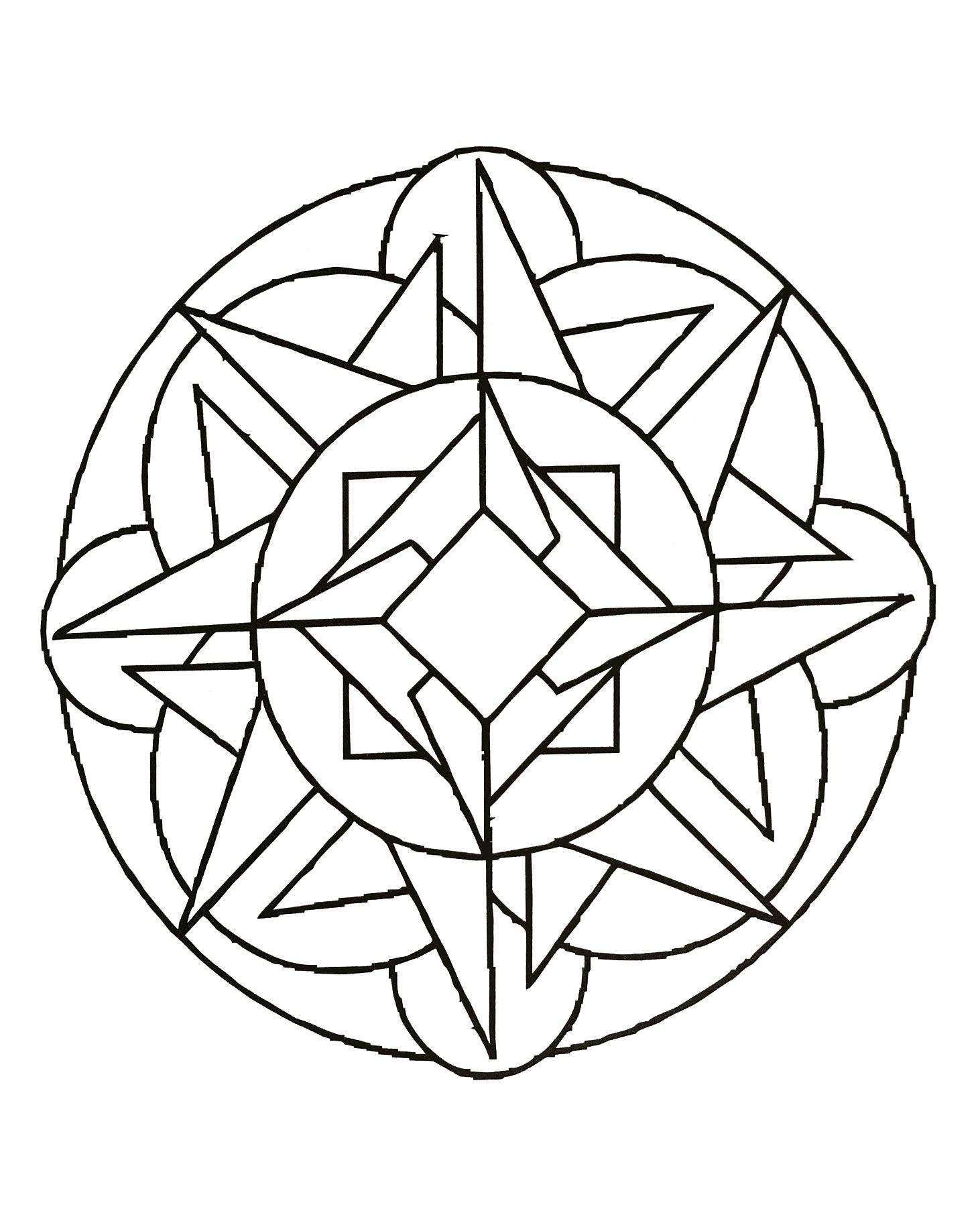 Mandalas a imprimer 25 coloriage mandalas coloriages - Mandala a imprimer gratuit ...