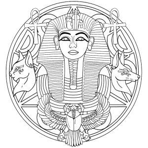 Mandala facile Toutânkhamon