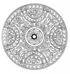 Coloriage mandala a imprimer 1