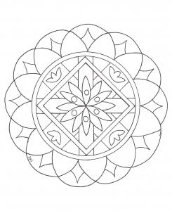 Coloriage mandala a imprimer 2