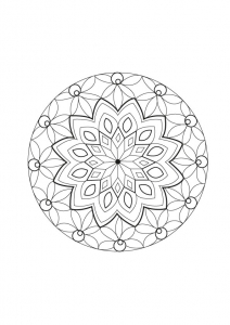 coloriage-mandala-abstrait-regulier-parceline