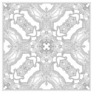 Coloriage mandala carre par karakotsya 3