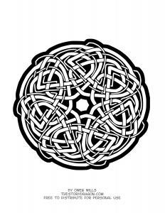 Coloriage mandala difficile celtique par owen wills