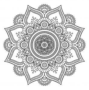 Jolie fleur Mandala