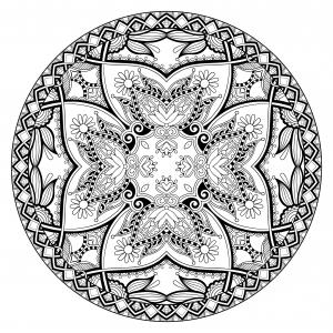 Coloriage mandala par karakotsya 1